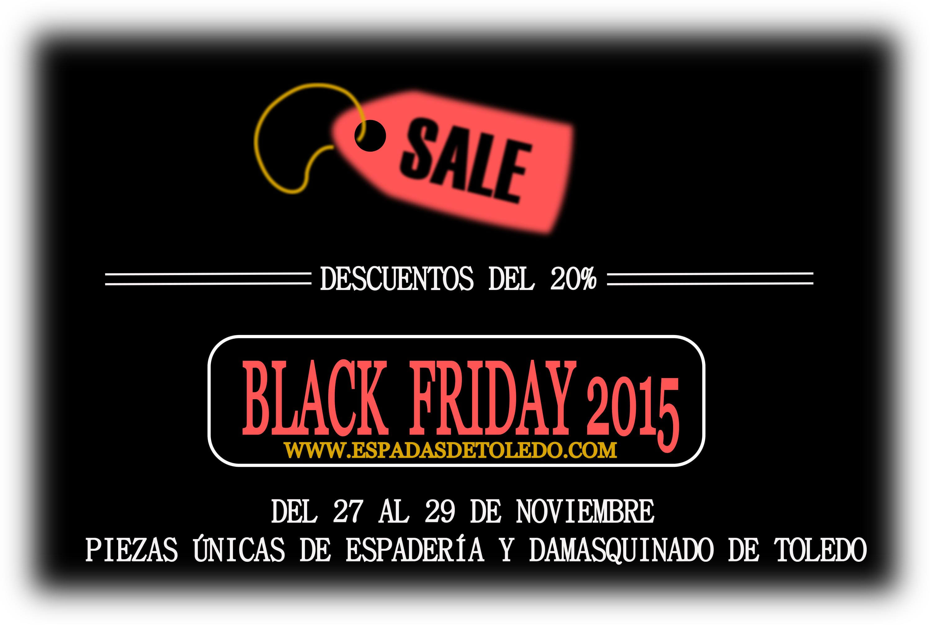 Espadas y damasquinado de Toledo. Black friday 2015.